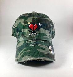 Camo HeartBreakerClo Dad Hat ! ♓️🅱️  www.heartbreakerclo.com shop now !