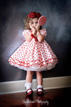 Not even a doll, a kid in dress!  Shirley Temple Inspired Girls Dress Set  by correenscdesigns, $189.95