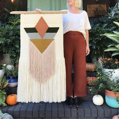 "1,699 Likes, 25 Comments - Erin Barrett (@sunwoven) on Instagram: ""My favorite weaving from the upcoming fall collection, and my new favorite knit pants from…"""