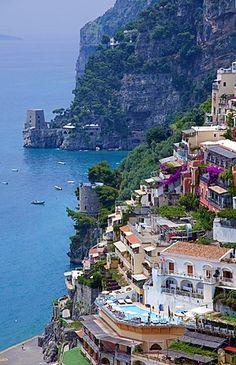 Positano, Costa de Amalfi, la Unesco Patrimonio de la Humanidad, Provincia de Salerno, Golfo de Salerno, Campania, Italia, Europa