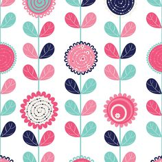 papel-de-parede-flores-e-folhas-estiliza-papel-de-parede-com-desenho-de-pastilhas
