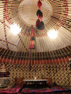 inside a Kazakhstan yurt