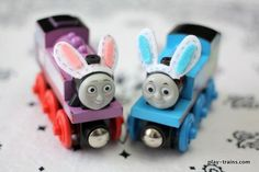 Come learn to make Easter freight — and bunny ears — for wooden trains @ Play Trains!