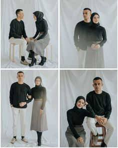 Weddings Discover Simple and Casual Pre-wedding Korean Wedding Photography, Couple Photography Poses, Pre Wedding Poses, Pre Wedding Photoshoot, Prewedding Hijab, Prewedding Photo, Muslimah Wedding Dress, Foto Wedding, Simple