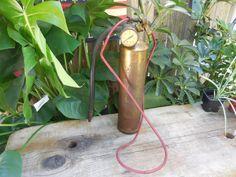 "Antique/Vintage ""Stop-Fire"" copper brass extinguisher"