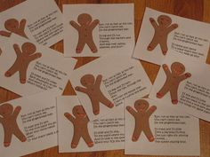 gingerbread hunt -- 9 clues / activites for a day of gingerbread fun