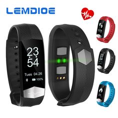 LEMDIOE CD01 Bluetooth Smart Band ECG Heart rate Blood pressure monitor Smart wristband Fitness Bracelet For IOS Android phones #Affiliate