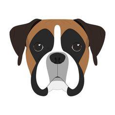 Illustration about Boxer dog on white background vector illustration. Illustration of boxer, face, symbol - 77860620 Dog Vector, Vector Art, Art Clipart, Vector Stock, Tiffany Kunst, Boxer Puppies, Dog Crafts, Dog Illustration, Portrait Illustration