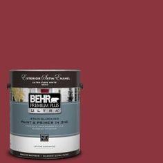 behr premium plus ultra 5 gal s g 140 cherry cobbler satin enamel exterior paint