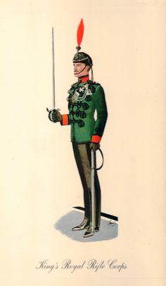 King's Royal Rifle Corps/Greenjackets circa 1930 by lehiboublanc, $14.00