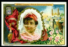 1900.  Asian Beauties (Turkey) trading card issued by Liebig Extract of Beef Company. S622.