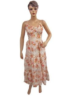 Maxi Dress, White Red Flowers , Cotton Summer Wear, Bohemian Dresses for Woman mogulinterior,http://www.amazon.com/dp/B008UQ6RJY/ref=cm_sw_r_pi_dp_6et2qb1K6M20FSMM