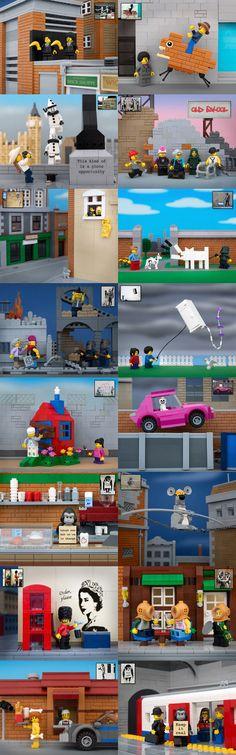 Banksy Inspired LEGO Dioramas by Jeff Friesen
