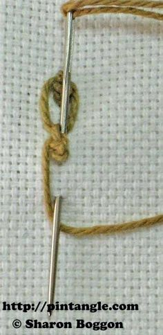 How to Hand Embroider Knotted Cable Chain