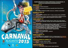Programación 'Carnaval 2015'! ¡Del 12 al 22 de febrero! #Alicante #Carnaval
