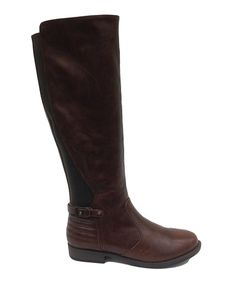 Loving this Brown Montana Stretch-Back Boot on #zulily! #zulilyfinds