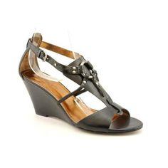 Ellen Tracy Portia Womens Size 9 Black Open Toe Wedge Sandals Shoes Ellen Tracy. $21.99