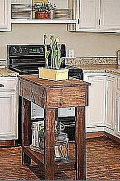 10 DIY Kitchen Island Woodworking Plans: Mama Sarahu0027s Free Kitchen Island  Plan For Small Spaces