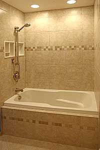 tile designs around bathtub tile around bathtub bathroom tile designs tile around tub shower combo tile ideas bathroom shower Ceramic Tile Bathrooms, Small Bathroom Tiles, Bathroom Tub Shower, Tub Shower Combo, Bathroom Tile Designs, Bathroom Design Small, Simple Bathroom, Small Bathrooms, Bathroom Ideas