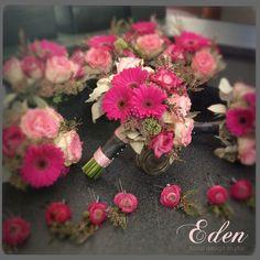Pretty in pink wedding flowers by Carrie Burgess, Eden floral design studio