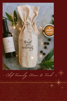 It/'s the most Wonferful Wine of the Year Red Holiday Wine Gift Bag