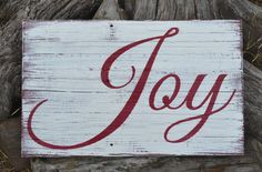 Holidays Christmas Decor Christmas Sign Holiday Decor Porch Vintage Rustic Joy Sign Home Decor Weathered Reclaimed Wood Sign Gift