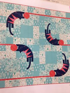 Cat Lady Quilt Kit - Cotton and Steel