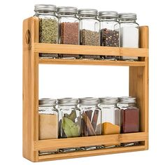 Morvat Bamboo Spice Rack Organizer Rustic and Simple Design