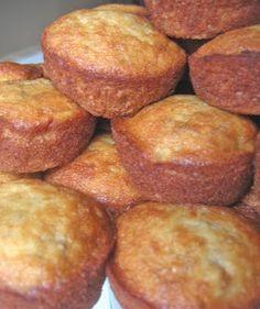 Banana bread muffins, seems like a really good idea! Easy especially