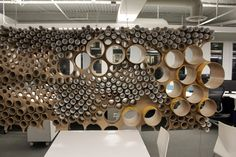 Recycling In Practice: Perkins + Will Finds New Life for Cardboard Tubes