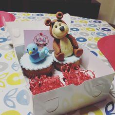Cupcakes para regalar a un tierno niño #osomasha #pájaro Gracias Francesca por elegirnos! 👏 #miskitrujillo