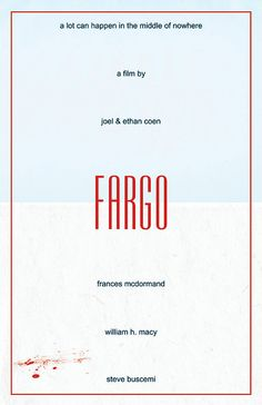 I like this one even better because I like the movie better. Fargo by sap41387 on Etsy, $15.00