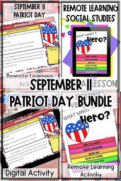 If you're looking for resources to teach about September 11 while distance learning, this digital Patriots Day Bundle is for you! I'm sharing two engaging digital activites for your middle school classroom that teach students about what happened on September 11th, the events that led to the attack, and how the U.S. transformed and grew afterward. Students will also watch a video about hero Welles Crowther and discuss character traits that make a hero. #distancelearning 7th Grade Classroom, Middle School Classroom, Middle School Science, Upper Elementary Resources, Elementary Science, Map Skills, Literacy Skills, Society Quotes, Patriots Day