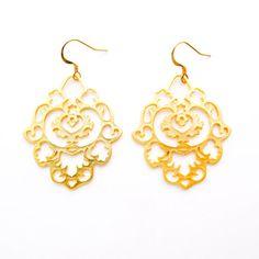 Gold Marocan Earrings Wild Orchid, Orchids, Jewelery, Drop Earrings, Boutique, Gold, Jewelry, Lilies, Jewlery