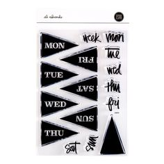 Days of The Week Flags 4x6 Stamp Set at Ali Edwards