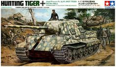 Tamiya 1/35 scale Hunting Tiger R/C Motor Vintage Classic Version. 10.16 New