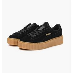 Designer Clothes, Shoes & Bags for Women Black Creepers, Suede Creepers, Tokyo Fashion, Runway Fashion, Fashion Models, London Fashion, Fashion Designers, Teen Fashion, Korean Fashion