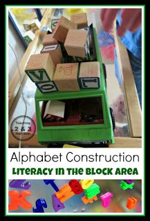 Alphabet Construction- Great for Letter Recognition and Learning! @Sheryl @ Teaching 2 and 3 Year Olds