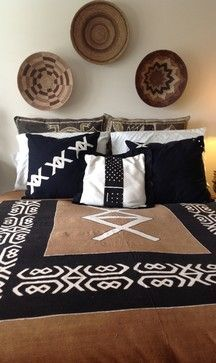 African Themed Bedroom eclectic bedroom