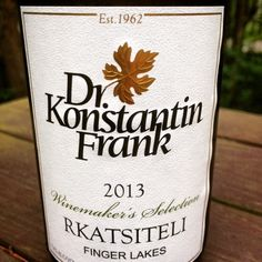 Nittany Epicurean: 2013 Dr. Frank Winemaker's Selection Rkatsiteli