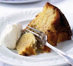 Somerset Pomona, apple & almond cake - simple cake makes a great dinner treat or serve with cream for a filling dessert Apple And Almond Cake, French Apple Cake, Easy Apple Cake, Apple Cake Recipes, Almond Cakes, Bbc Good Food Recipes, Sweet Recipes, Jewish Apple Cakes, Syrup Cake