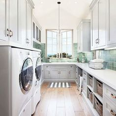Create your dream laundry room decor with these top 7 laundry room essentials. Design your laundry room to be pretty AND functional by including a few key design features in your laundry space. House Design, Room, Laundry Mud Room, Home, Custom Homes, Multipurpose Room, Dream Laundry Room, Room Tiles, Laundry