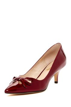 LOVE a red shoe!! kitten heel  promshoeslowheeled Cute Shoes b4b991ec6046