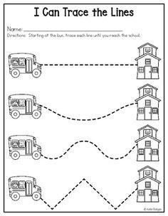 Back to School Activities for Kindergarten by Katie Roltgen Preschool Writing, Preschool Curriculum, Preschool Learning, Preschool Activities, Preschool Printables, Homeschool, Pre K Worksheets, Kindergarten Worksheets, Printable Worksheets