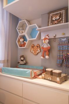 Sheron Menezzes shows the decoration of the son& bedroom:separator: Baby Bedroom, Baby Boy Rooms, Baby Room Decor, Kids Bedroom, Bedroom Decor, Nursery Decor, Diy Bebe, Baby Room Design, Nursery Design