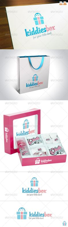 KiddiesBox — Vector EPS #kids shop #play store • Available here → https://graphicriver.net/item/kiddiesbox/3654578?ref=pxcr