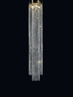 Crystal long chain chandelier