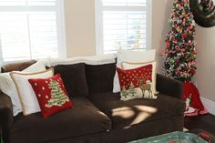 Kids Christmas Ashley Home, Kids Christmas, Couch, Throw Pillows, Bed, Furniture, Home Decor, Christmas Cushions, Settee
