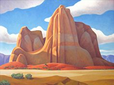 """Sculpted Desert,"" Steve Kropp, 36x48, oil on canvas"