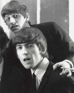 #ringo starr #george harrison #the beatles #starrison